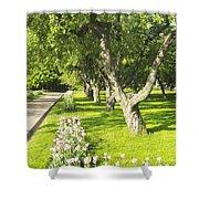 Apple Garden Shower Curtain