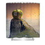 Apple House Shower Curtain
