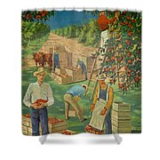 Apple Industry Shower Curtain