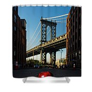 Apple On The Streets Shower Curtain