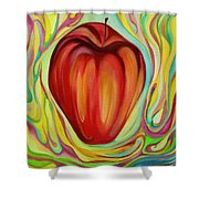 Apple One Shower Curtain