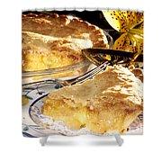 Apple Pie Dessert Shower Curtain