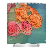 Apple Roses Shower Curtain