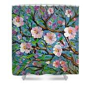 Apple Tree Blossom Shower Curtain