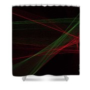 Apple Tree Computer Graphic Line Pattern Shower Curtain