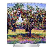 Apple Tree Orchard Shower Curtain