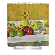 Apples And Biscuits Shower Curtain