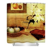 Apples And Pears In A Hallway Shower Curtain
