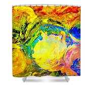 Apples And Sunshine Shower Curtain
