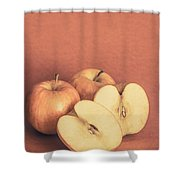 Apples In Autumn Shower Curtain