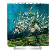 Appletree In Spring Shower Curtain