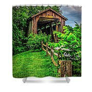 Approach To Hunseckers Mill Bridge Shower Curtain