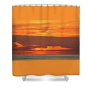 Approaching August Sunrise At Lake Simcoe  Shower Curtain