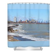 Approaching Chicago Shower Curtain