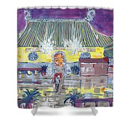 Approaching Dongwu Temple On Chinese New Years Eve Shower Curtain