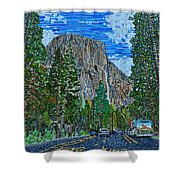 Approaching El Capitan Yosemite National Park Shower Curtain