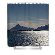 Approaching Lofoten Shower Curtain