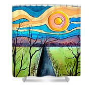 Approaching Lossarnach Shower Curtain