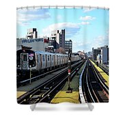 Approaching Myrtle Avenue Shower Curtain