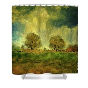 Approaching Storm At Antietam Shower Curtain by Lois Bryan