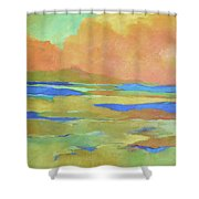 Apricot Morn Shower Curtain