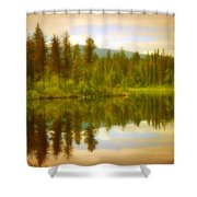 Apricot Reflections Shower Curtain