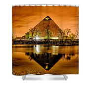 April 2015 - The Pyramid Sports Arena In Memphis Tennessee Shower Curtain