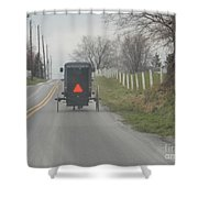 April Afternoon Buggy Ride Shower Curtain