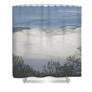 April Appalachian Overlook Shower Curtain