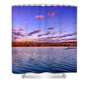 April Evening At The Lake Shower Curtain