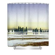 April Evening Shower Curtain