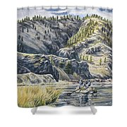 April In Montana Shower Curtain