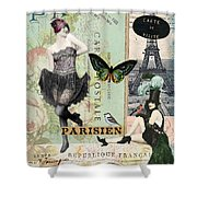 April In Paris Shower Curtain