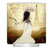 April In Paris Shower Curtain by Shanina Conway