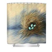 April Nest Shower Curtain