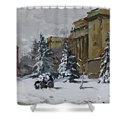 April Snow By The Nacc Shower Curtain