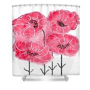 April's Flowers Shower Curtain