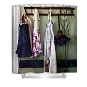 Aprons And Feather Duster Shower Curtain