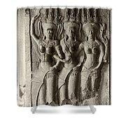 Apsaras Of Angkor Wat Shower Curtain