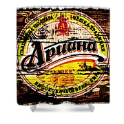Apuaha Beer Sign Shower Curtain