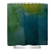 Aqua Blue - Abstract Shower Curtain