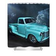 Aqua Blues Shower Curtain