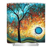 Aqua Burn By Madart Shower Curtain