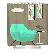 Aqua Chair Shower Curtain