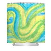 Aqua Duck  Shower Curtain