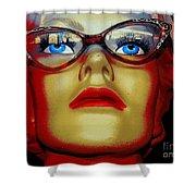 Aqua Eyed Angie Shower Curtain