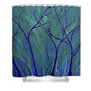 Aqua Forest Shower Curtain
