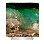 Aqua Green Wave Shower Curtain