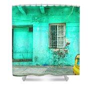 Aqua House Shower Curtain