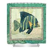 Aqua Maritime Fish Shower Curtain